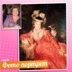 Портрет на холсте по фото Дама в красном платье