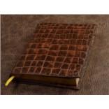 Ежедневник Elole Design (коричневый, крокодил; нат. кожа)
