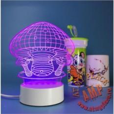 Светодиодный 3D светильник Грибы