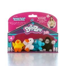 Игровой набор Beanzeez Цыпленок, утенок, кролик, горилла