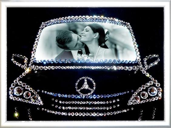 Картина Swarovski «Фоторамка В машине»