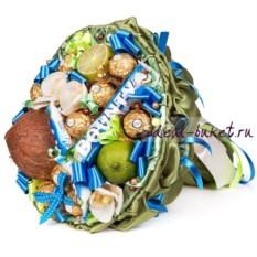 Букет из фруктов и конфет Баунти