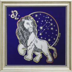 Картина с кристаллами Swarowski Звездный Лев