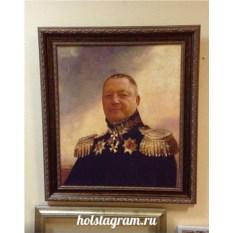 Печать портрета по фото на холсте Премиум