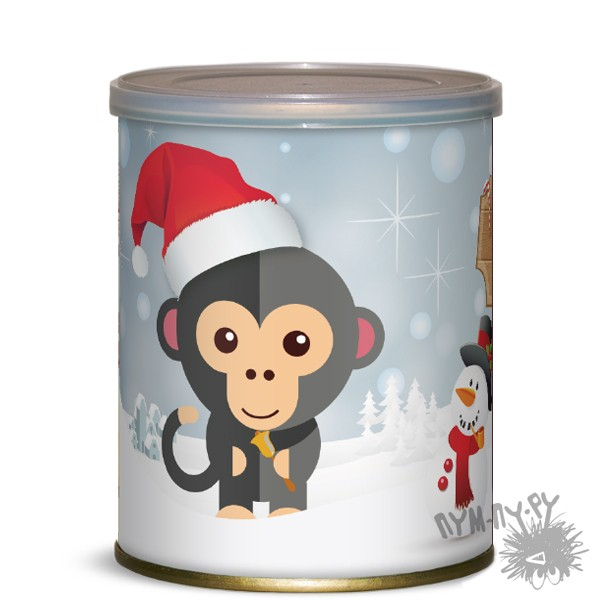 Сладкие консервы Обезьянка Санта