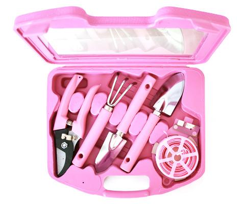 Розовый набор садовых инструментов