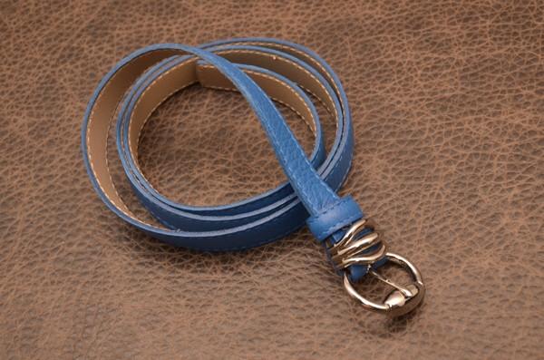 Женский синий ремень