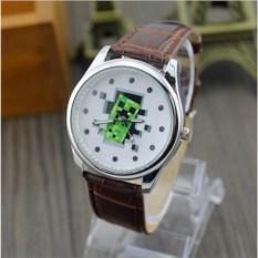 Механические наручные часы Minecraft Крипер из стены