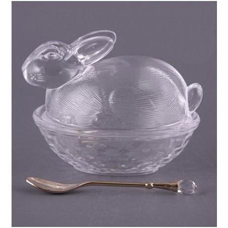 Блюдо с крышкой «Кролик» с ложкой