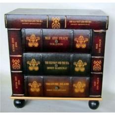 Тумбочка в виде стопки огромных книг Великая библиотека