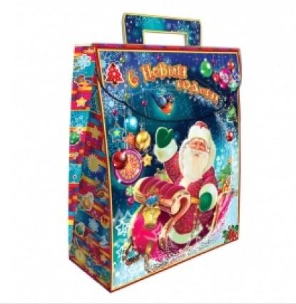 Сладкий новогодний подарок Дед Мороз с подарками