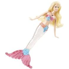 Кукла Барби Блондинка русалка. Сверкающие огоньки