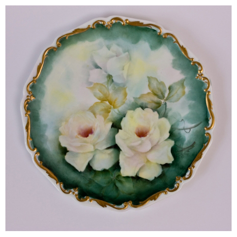 Тарелка декоративная «Розы»