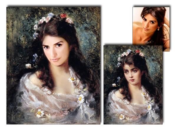 Необыкновенный портрет по фото на холсте