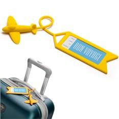 Желтая бирка для багажа Tag me