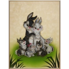 Картина со стразами Swarovski Три сыночка и лапочка дочка