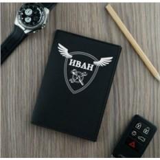 Черная обложка для автодокументов Классика