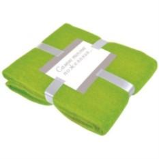 Зеленый плед Mohair с подарочной открыткой