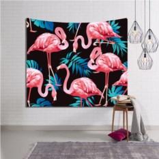 Декоративное панно на стену Фламинго на темном