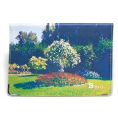 Кожаная обложка для паспорта Парк