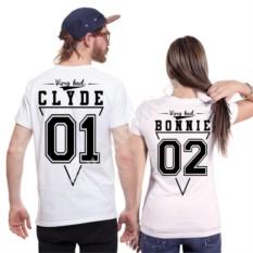 Парные футболки для двоих Bonnie и Clyde