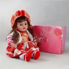 Декоративня виниловая кукла в панаме
