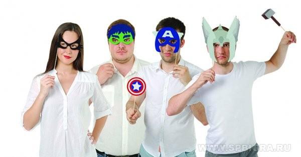 Набор бутафории для фотосессий Супергерои