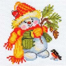 Набор для вышивания Снеговичок
