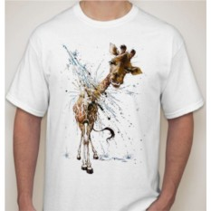 Мужская футболка Жираф, брызги