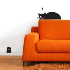 Интерьерные наклейки Кот и мышка в норке