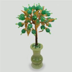 Дерево из нефрита в вазочке из оникса