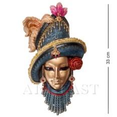 Венецианская маска Леди в шляпе (цвет: сине-золотой)