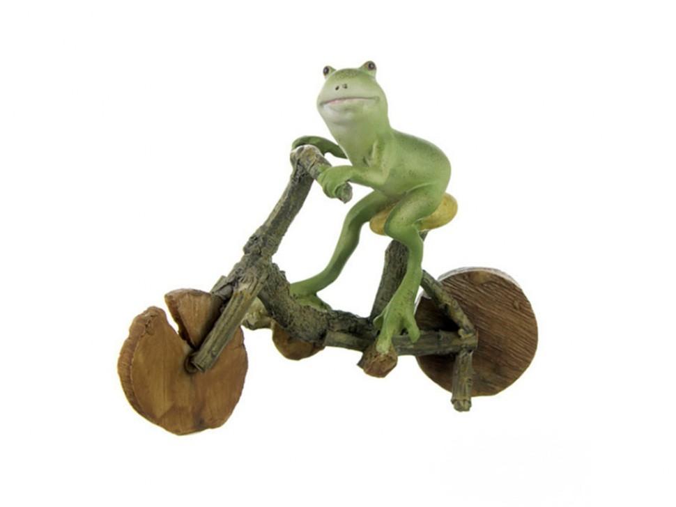 Фигурка Лягушка на велосипеде