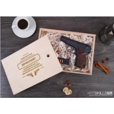 Именной шоколадный пистолет «Подарок отцу»