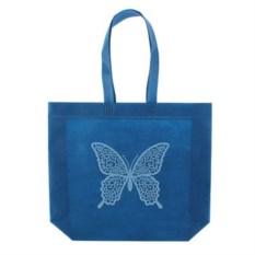Синяя сумка из нетканного материала Эко