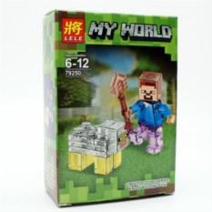 Конструктор Lele Minecraft Стив и овца