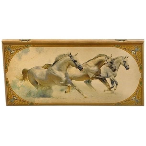 Нарды Лошади в деревянном коробе