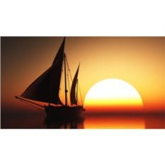 Набор для вышивки стразами «Корабль на закате»
