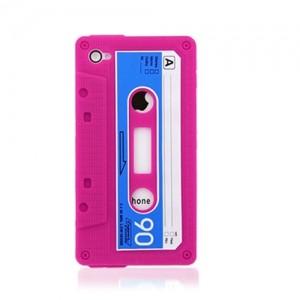 Розовый чехол для iPhone4 Кассета