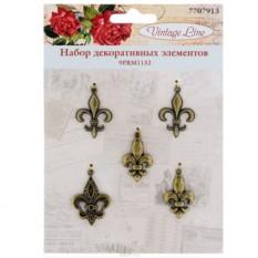 Набор декоративных элементов Vintage Line Лилии, 5 шт.