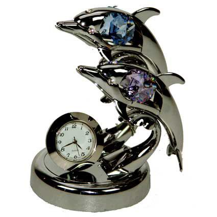 Фигурка декоративная с часами «Дельфины»