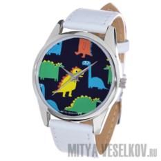 Часы Mitya Veselkov Разноцветные динозавры