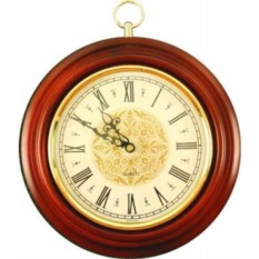 Коричневые классические часы