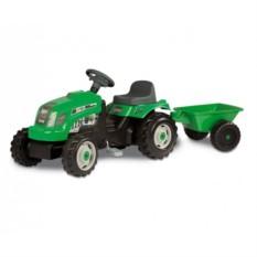 Игрушечный педальный трактор GM Bull+remorgue vert от Smoby