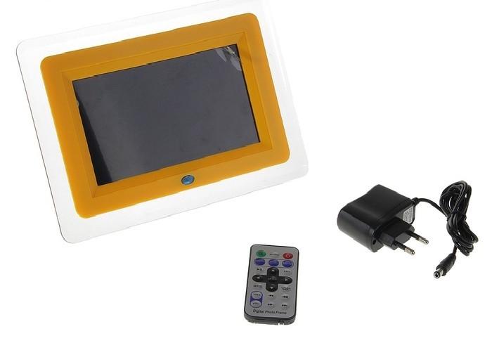 Цифровая фоторамка, желтая