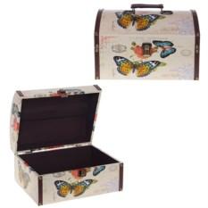 Бежевая шкатулка Бабочки