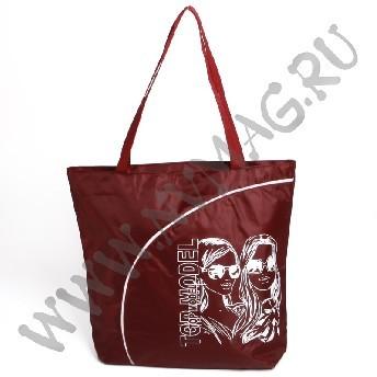 Бордовая пляжная сумка