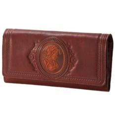 Женский кожаный кошелек с отделением для кредиток