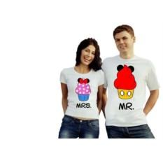 Парные футболки Mrs. Mr.