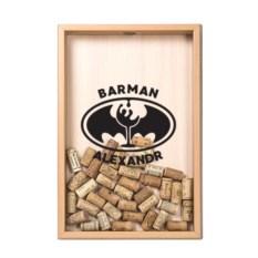 Именная копилка для винных пробок Barman